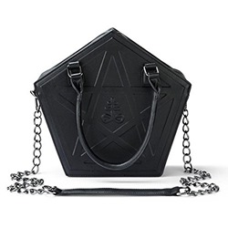 Shoespie PU Chain Geometric Tote Bags