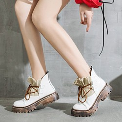 Shoespie Trendy Platform Lace-Up Martin Ankle Boots