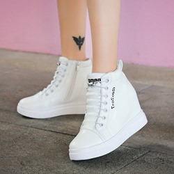 Shoespie Casual Platform Hidden Elevator Heel Sneakers