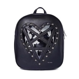 Shoespie Heart Shaped PU Thread Backpacks