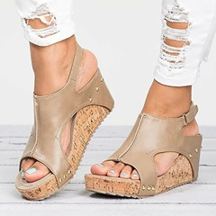 Shoespie Stylish Open Toe Strappy Wedge Heel Sandals