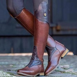 Shoespie Trendy Slip-On Block Heel Knee High Boots