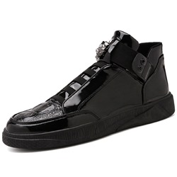 Shoespie Mid-Cut Elastic Round Toe Men's Sneakers