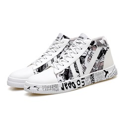 Shoespie Mid-Cut Upper Lace-Up Men's Sneakers