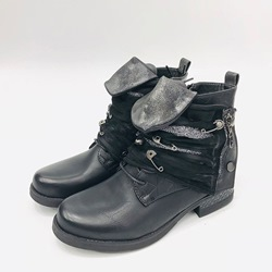 Shoespie Vintage Side Zipper Round Toe Ankle Boots