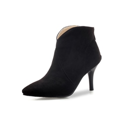 Shoespie Sexy Stiletto Heel Back Zip Ankle Boots