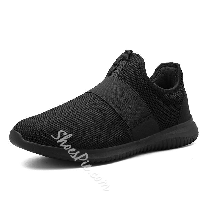 Shoespie Mesh Low-Cut Upper Slip On Men's Sneakers