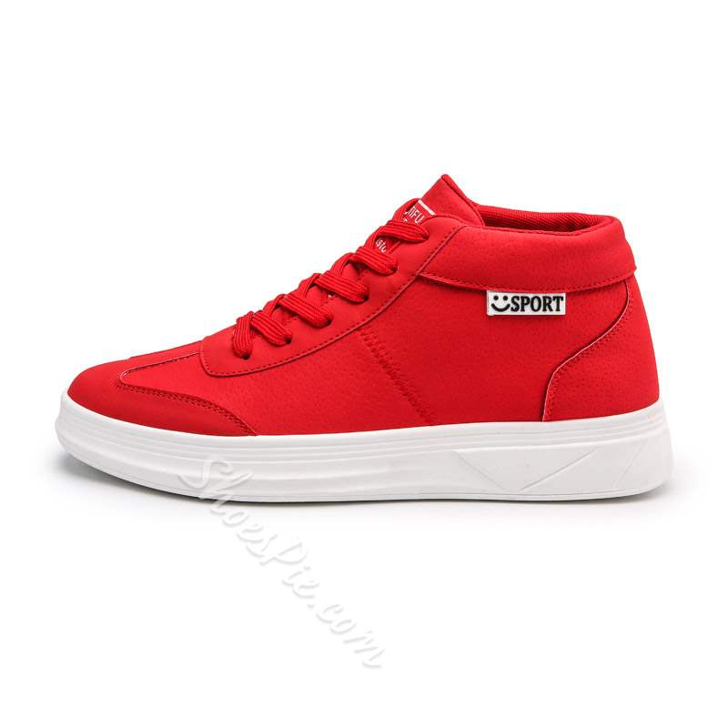 Shoespie Mid-Cut Upper Lace-Up Flat Men's Sneakers