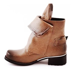 Shoespie Stylish Hasp Round Toe Rivet Ankle Boots
