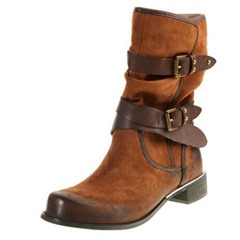 Shoespie Stylish Hasp Round Toe Flat Ankle Boots