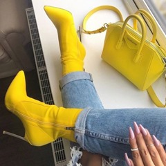 Pointed Toe Side Zipper Stiletto Heel Ankle Boots