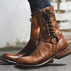 Shoespie Stylish Side Zipper Round Toe Ankle Boots