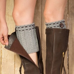 Knitted Two Button Boot Cuffs