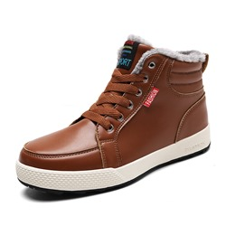 Shoespie Lace-Up High-Cut Upper Round Toe Men's Sneakers