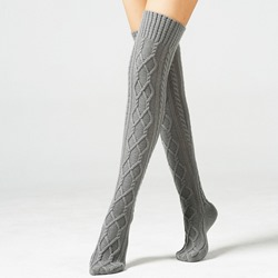 Knee High Patterned Boot Socks