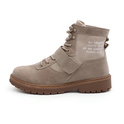 Shoespie Round Toe Martin Lace-Up Front Men's Ankle Boots
