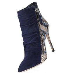 Shoespie Size Zipper Pointed Toe Stiletto Heel Ankle Boots