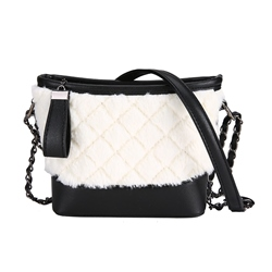 Shoespie Japanese Quilted Lining Plain Velour Rectangle Crossbody Bags