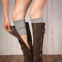 Plain Warmth Knitted Boot Cuffs