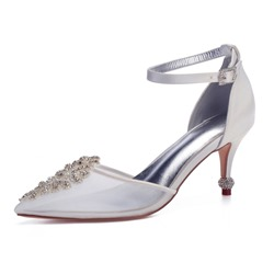 Shoespie Trendy Rhinestone Stiletto Heel Pointed Toe Wedding Shoes