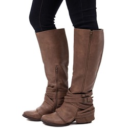 Shoespie Trendy Round Toe Side Zipper Knee High Boots