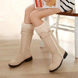 Shoespie Stylish Slip-On Block Heel Snow Knee High Boots