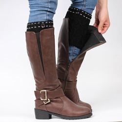 New Style Knitted Boot Cuffs with One Button