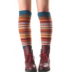 Color Block Knitted Leg Warmers