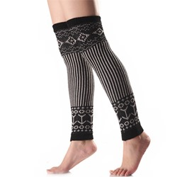 Assorted Colors Vertical Stripe Winter Leg Warmers
