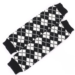 Fashion Plaid pattern Winter Leg Warmer