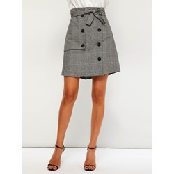 Bodycon Mini Skirt Plaid Casual Women's Skirt