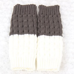 Color Block Warm Boot Cuffs
