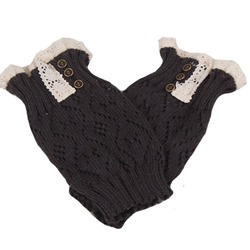 Crocheted Boot Cuff with Lace Trim
