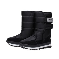 Shoespie Stylish Round Toe Plain Velcro Ankle Snow Boots