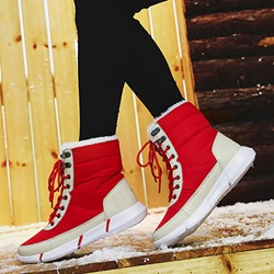 Shoespie Stylish Lace-Up Round Toe Short Snow Boots