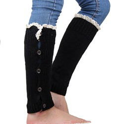 Single-Breasted Knitted Leg Warmers