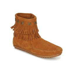 Shoespie Stylish Fringe Side Zipper Flat Snow Ankle Boots