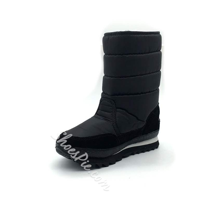 Shoespie Stylish Round Toe Slip-On Snow Boots