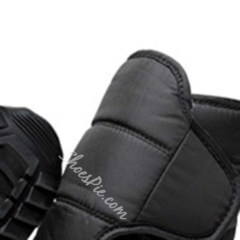 Shoespie Casual Velcro Round Toe Ankle Snow Boots