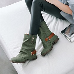 Shoespie Stylish Round Toe Side Zipper Ankle Boots