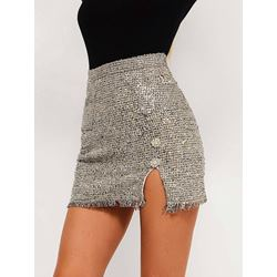 Bodycon Plain Casual Women's Mini Skirt