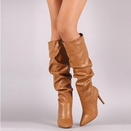 Shoespie Stylish Stiletto Heel Pointed Toe Knee High Boots
