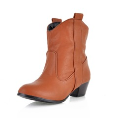 Shoespie Trendy Plain Chunky Heel Slip-On Ankle Boots