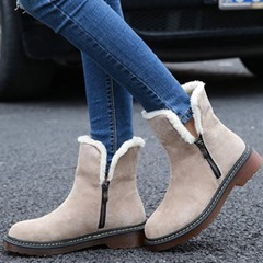 Shoespie Sexy Side Zipper Round Toe Ankle Snow Boots