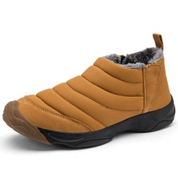 Shoespie Elastic Round Toe Plain Cloth Men's Snow Boots