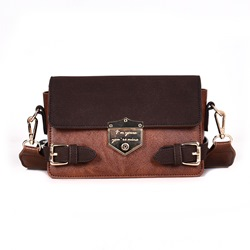 Shoespie Thread Letter PU Rectangle Crossbody Bags