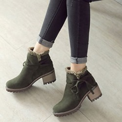 Shoespie Trendy Chunky Heel Round Toe Ankle Boots