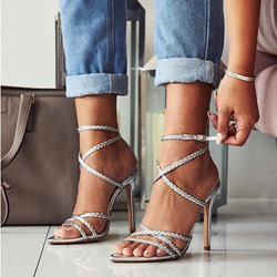 Shoespie Sexy Buckle Stiletto Heel Open Toe Sandals