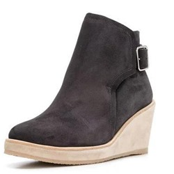 Shoespie Trendy Suede Wedge Heel Hasp Ankle Boots