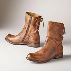 Shoespie Sexy Round Toe Side Zipper Motorcycle Ankle Boots
